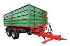 Den gröna traktorvagnen Arkivfoto