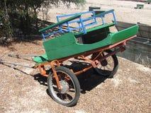 Den gröna vagnen Fotografering för Bildbyråer