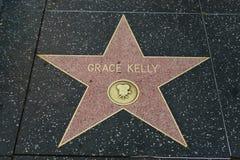 Den Grace Kelly stjärnan på Hollywood går av berömmelse arkivfoto