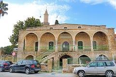 Den Grans moskén Djami Kebir, som den kallas i Larnaca, Cypern arkivfoton