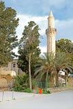 Den Grans mosk?n Djami Kebir, som den kallas i Larnaca, Cypern arkivfoton