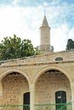 Den Grans mosk?n Djami Kebir, som den kallas i Larnaca, Cypern arkivbilder