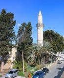 Den Grans mosk?n, Djami Kebir, som den kallas, Larnaca, Cypern arkivfoton