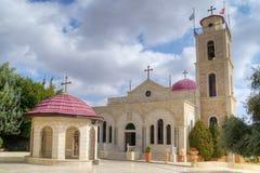 Den grekiska ortodoxa kloster, herdar Fields, Israel royaltyfria foton