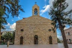 Den grekiska ortodoxa kyrkan i den Madaba Jordanien Arkivfoton