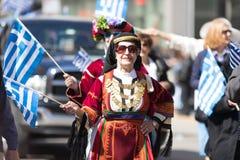 Den grekiska självständighetsdagen ståtar 2018 Royaltyfri Fotografi