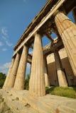 Den grekiska templet fördärvar i Grekland Fotografering för Bildbyråer