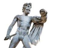Den grekiska Tyrantcidal statyn, i den Boboli trädgården, Florence Arkivfoton