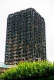 Den Grenfell tornbranden Royaltyfri Foto