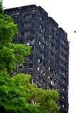 Den Grenfell tornbranden Royaltyfria Bilder