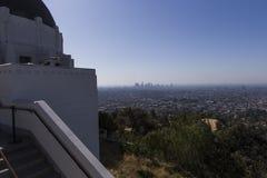 Den Griffith observatoriet, Los Angeles, Kalifornien Arkivfoton