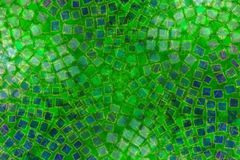 den gröna mosaiken mönsan tegelplattor Royaltyfri Fotografi