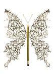 Den grova pennan skissar den gjorda fjärilen Royaltyfri Bild