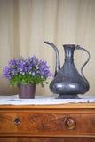 Den Grugy kettlen bordlägger på Fotografering för Bildbyråer