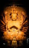 Den Guanyin Buddhapagoden är tusen händer Royaltyfri Fotografi
