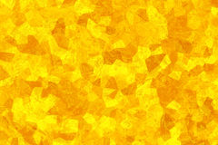 Den gula abstrakt begrepp texturerar Mosaisk tapet Kristalliserad struktur ljust soligt för bakgrund Arkivbild