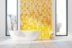 Den gula badruminre, badar Royaltyfria Foton