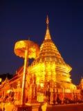 Den gula Doien Suthep Temple Fotografering för Bildbyråer