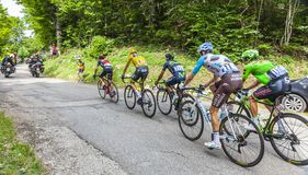 Den gula Jersey gruppen - Tour de France 2017 royaltyfri foto