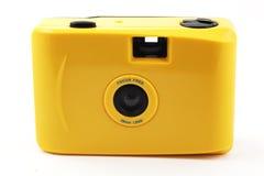 Den gula kameraforsen och går Arkivfoto
