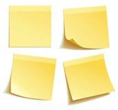 Den gula pinnen noterar Royaltyfri Fotografi