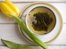 Grön tea för en frukost Royaltyfri Fotografi