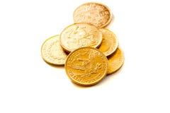Den guld- amerikanen myntar Arkivbild