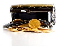Den guld- amerikanen myntar. Royaltyfria Bilder