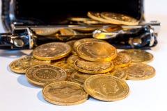 Den guld- amerikanen myntar. Royaltyfri Fotografi