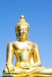 Den guld- Buddhasikten Arkivfoto