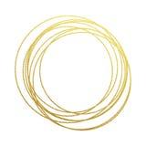 Den guld- cirkelabstraktionen av guld- folie och blänker stock illustrationer