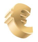 Den guld- euroen undertecknar Arkivbilder
