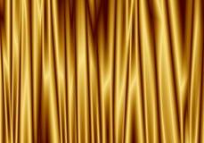 Den guld- gardinen reflekterar med den ljusa fläcken på bakgrund Arkivfoton