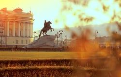Den guld- hösten i St Petersburg, Ryssland Arkivbilder