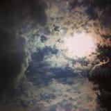 Den guld- himlen Arkivfoton
