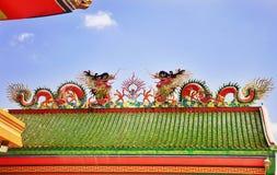 Den guld- Kina draken Arkivbild