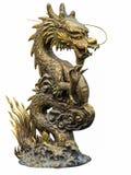 Den guld- kinesiska draken Arkivbilder