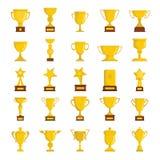 Den guld- koppen tilldelar symbolssamlingen Arkivbilder