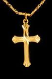 Den guld- kristen korsar royaltyfria bilder