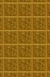 den guld- modellen virvede tegelplattan Royaltyfria Foton
