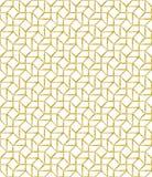 Den guld- mosaiken för översiktsvektormodellen inspirerade royaltyfri illustrationer