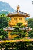 Den guld- paviljongen Nan Lian Garden Arkivfoto