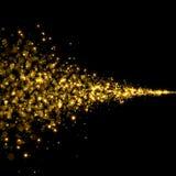 Den guld- slingan blänker bakgrund Arkivfoton