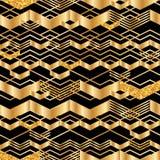 Den guld- sparrelinjen blänker den sömlösa modellen stock illustrationer