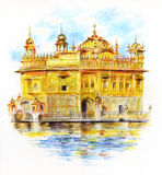Den guld- templet Sri Harmandir Sahib Arkivfoton