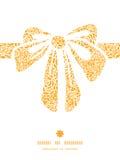 Den guld- vektorn snör åt konturn för rosgåvapilbågen royaltyfri illustrationer