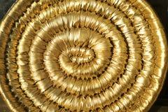 Den guld- virveln Fotografering för Bildbyråer