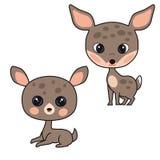 Den gulliga bruna vektorn behandla som ett barn hjortar som isoleras på vit bakgrund arkivfoton
