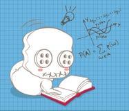 Den gulliga dockan lär matematik stock illustrationer