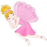 Den gulliga fen i rosa färgklänning sover, eps 10 Royaltyfri Fotografi